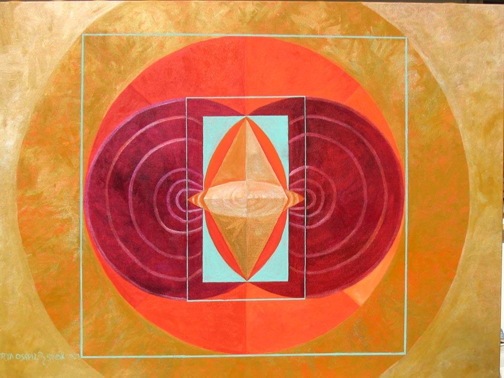 The vibration of birth Acrylic on Canvas 90X120