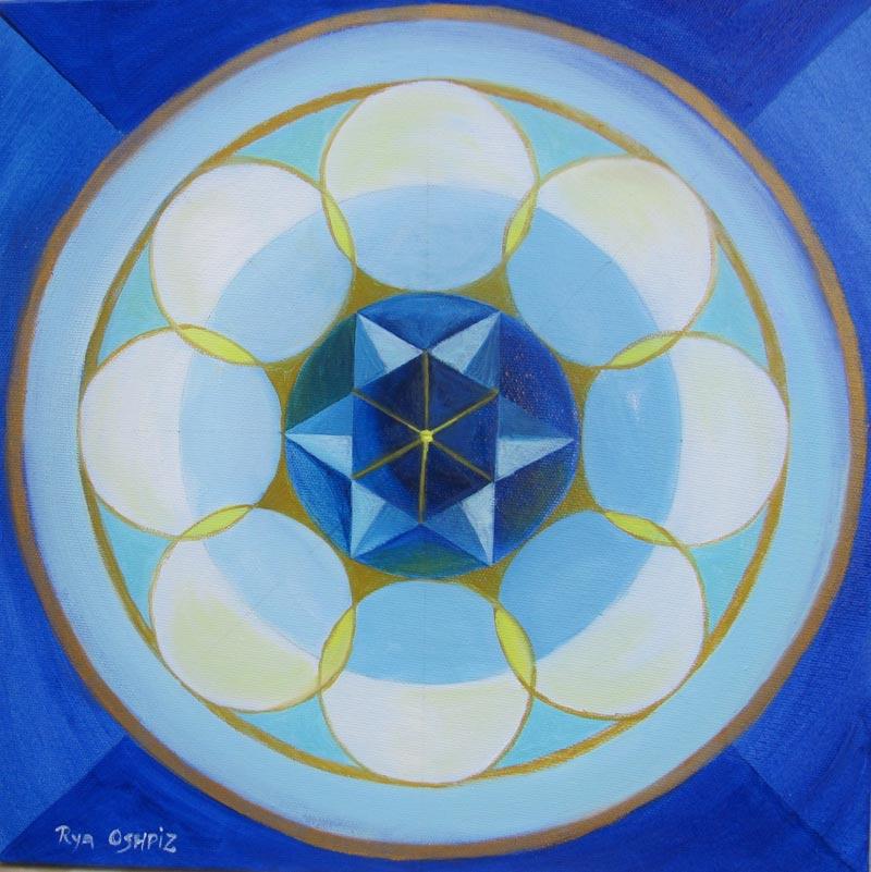 Sacred Talk דיבור מקודש 40X40 oil on canvas