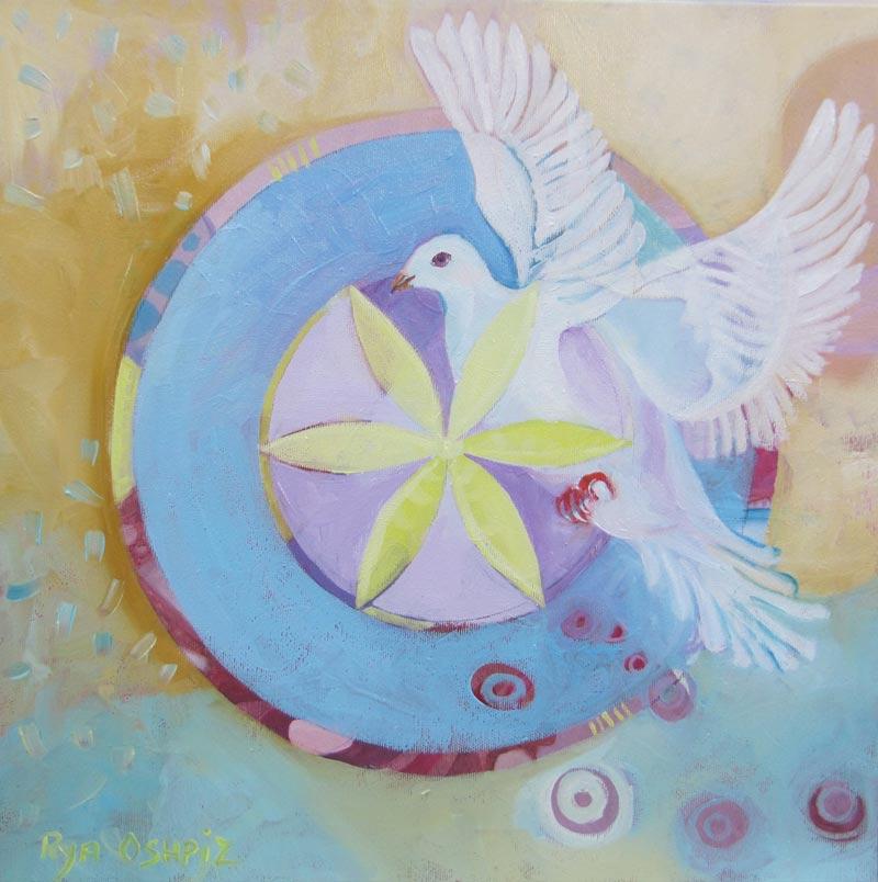Inner Peace שלום פנימי 40X40 oil on canvas