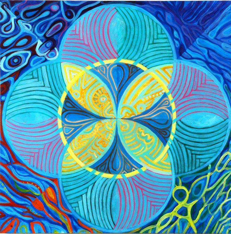 Water מים Acrylic on Canvas 70X70