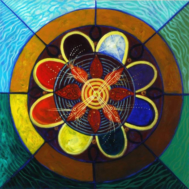 The DNA of Gaia הדנא של גאיה Acrylic on Canvas 70X70