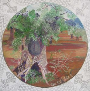 The Sacred Olive Tree Oil on Canvas 40x40