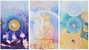 Existence - Oil on canvas Triptych