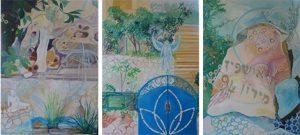 Kfar Vradim Triptych 0.70mx1.50m