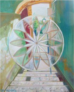 פריזמה בסמטאות צפת Prism in Zfat Alleys Oil on canvas 40X50