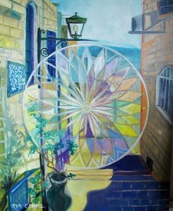 פריזמה בסמטאות צפת Prism in Zfat Alleys Oil on canvas 40X50